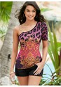 Front View Chain Detail Print Top