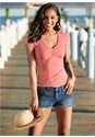 Front View V-Neck Top