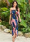 Front View Off-The-Shoulder Maxi Dress