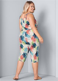 Back View Cropped Lounge Jumpsuit