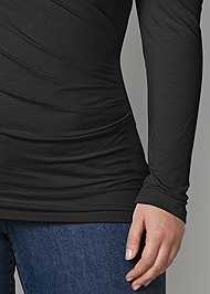 Alternate View Draped Sleeve Top