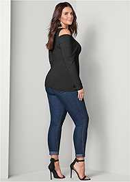 Back View Draped Sleeve Top