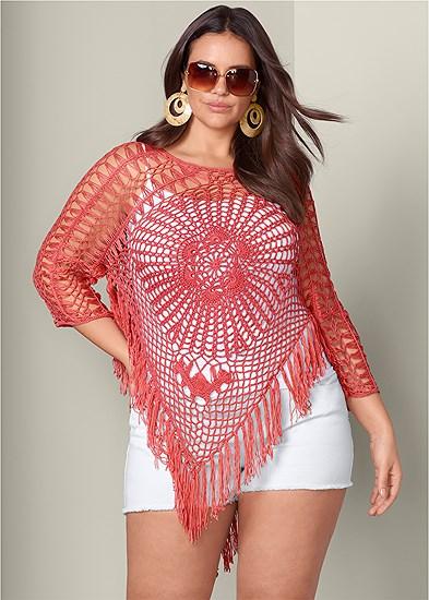 Plus Size Crochet Sweater