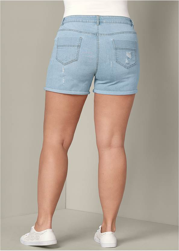 Back View Lace Up Front Shorts