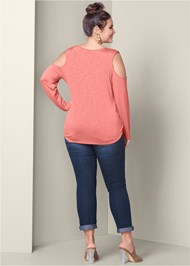 Back View Strappy Surplice Top