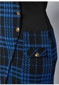 Alternate View Plaid Button Detail Dress