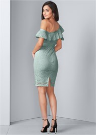 Back View Bodycon Lace Dress