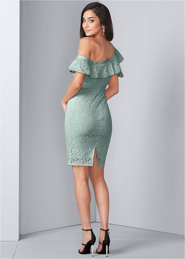 Back View Bodycon Lace Dress