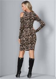 Back View Leopard Print Dress
