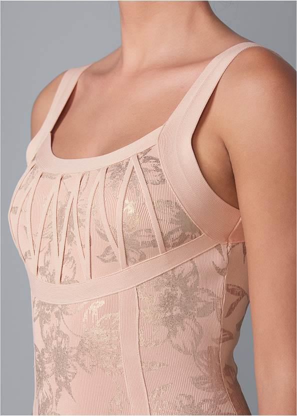 Alternate View Foil Print Bandage Dress