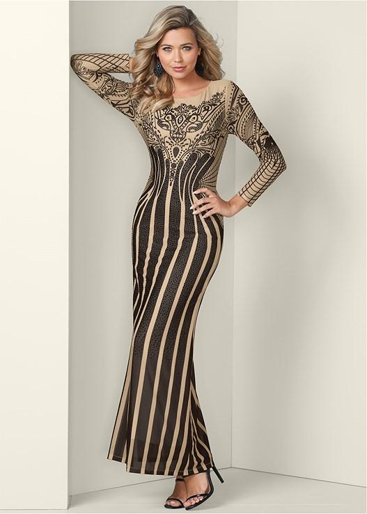 Printed Long Dress by Venus
