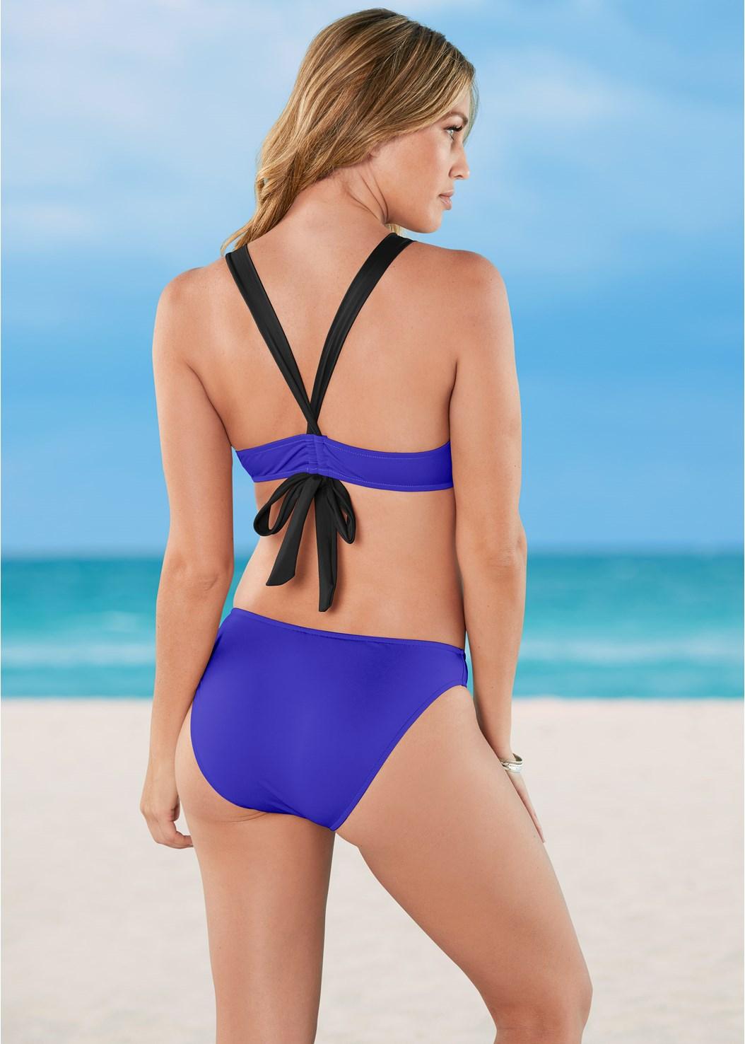 V Back Enhancer,Scoop Front Bikini Bottom,Ruched Waist Bikini Bottom