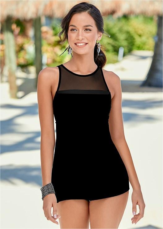 THE LITTLE BLACK SWIM DRESS