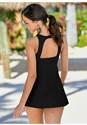 Back view The Little Black Swim Dress