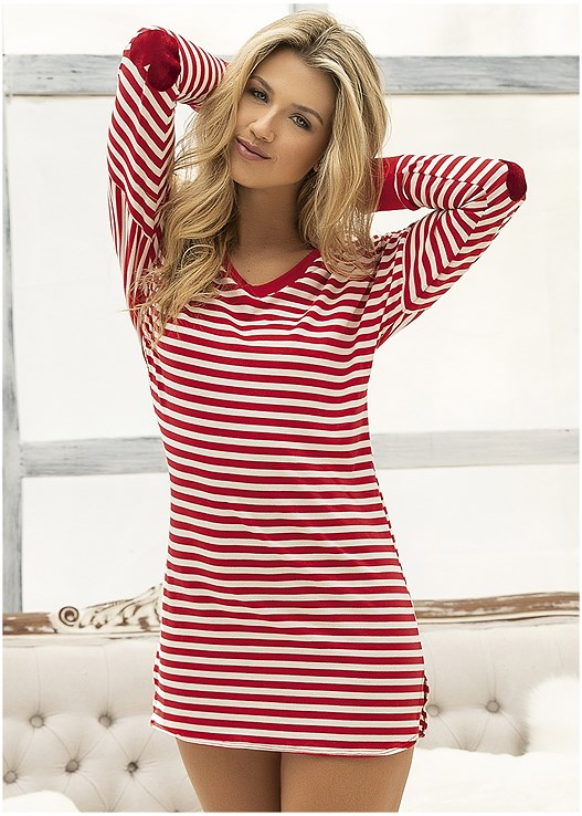 STRIPED SLEEP DRESS