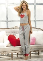 heart print sleep set