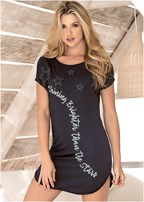 graphic sleep dress