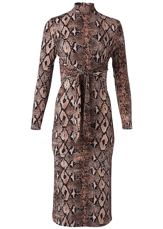 PYTHON PRINT BODYCON DRESS