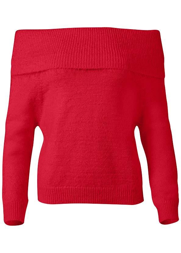 Alternate View Cozy Off Shoulder Sweater