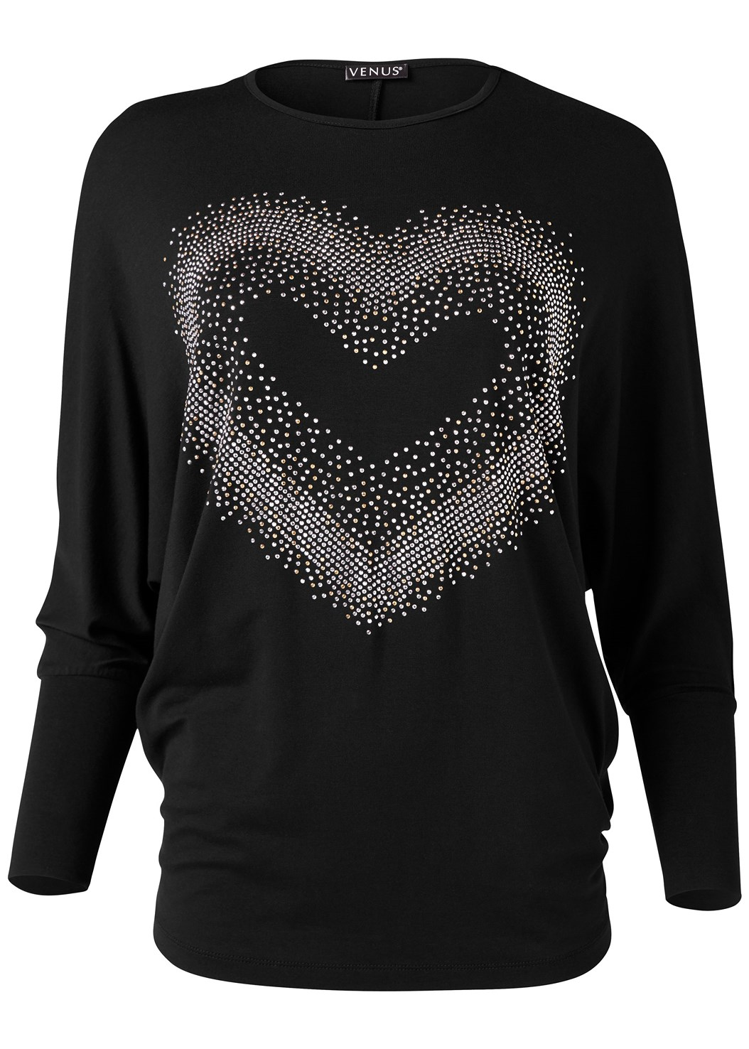 Embellished Heart Tee,Ripped Bum Lifter Jeans,Stud Detail Boots
