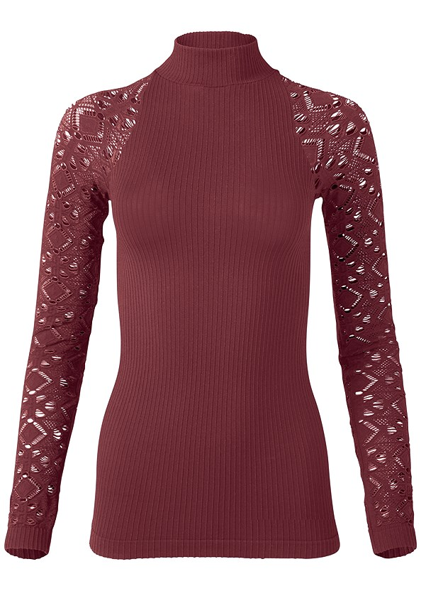 Seamless Mock Neck Top,Mid Rise Color Skinny Jeans