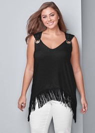 Front View Fringe Detail Top