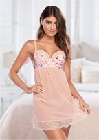 floral unlined babydoll