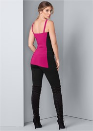 Back View Color Block Chain Top