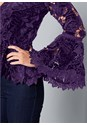 Alternate View Velvet Lace Bell Sleeve Top