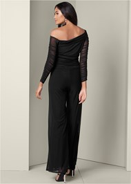 Back View Mesh Detail Jumpsuit