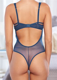 Detail back view Thong Bodysuit With Cups