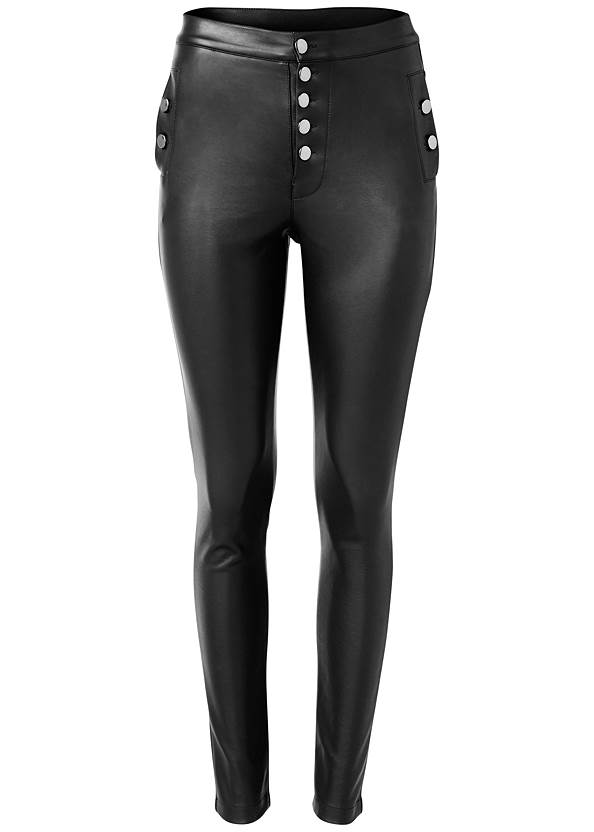 Alternate View High Rise Faux Leather Pants