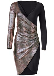 Alternate View Foil Bodycon Dress