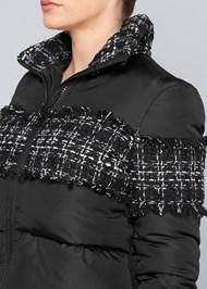 Alternate View Plaid Detail Puffer Jacket