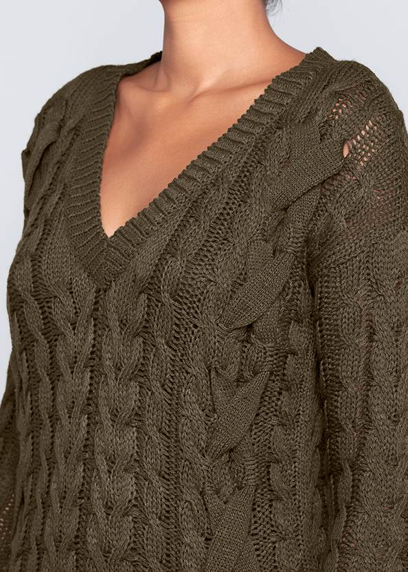 Alternate View Cable Knit Sweater Dress