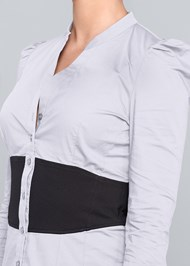 Alternate View Color Block Blouse