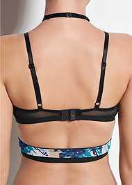 Detail back view Strappy Wrap Sports Bra