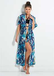 Front View Sheer Maxi Robe