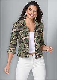 Cropped front view Jean Jacket