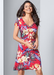 Detail  view Floral A-Line Midi Dress