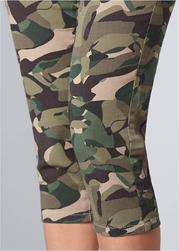 Alternate View Color Capri Jeans