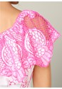 Alternate View Lace One Shoulder Top