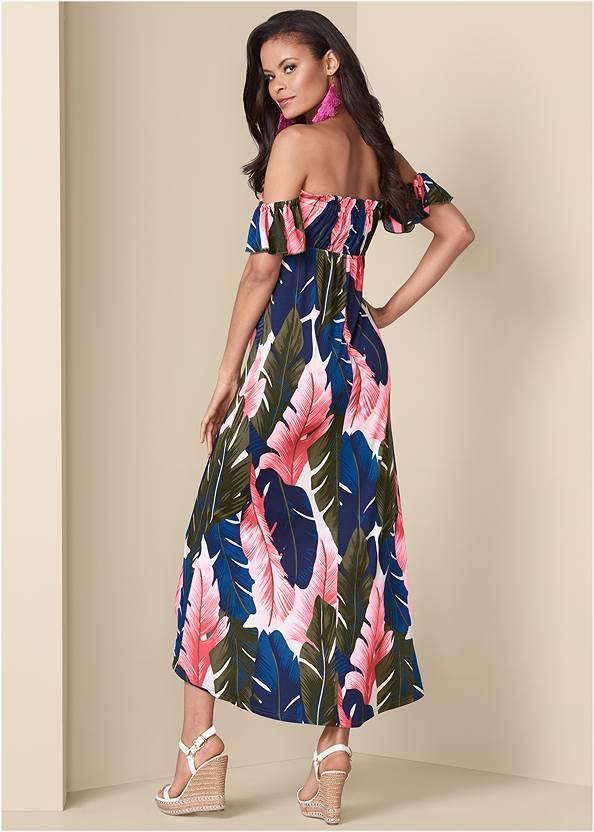 Back View Off-The-Shoulder Maxi Dress