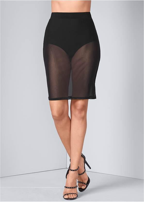 Detail  view Mesh Skirt