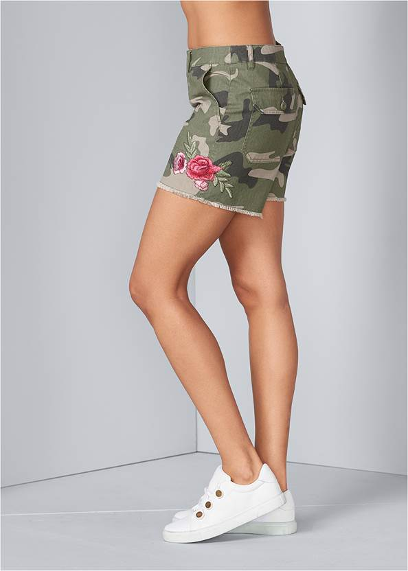 Back View Camo Shorts