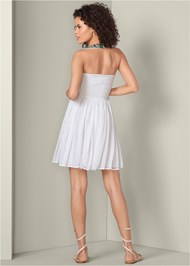 Alternate View Embellished Halter Dress