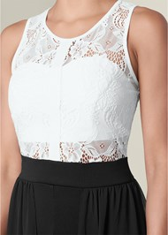 Alternate View Lace Twofer Romper