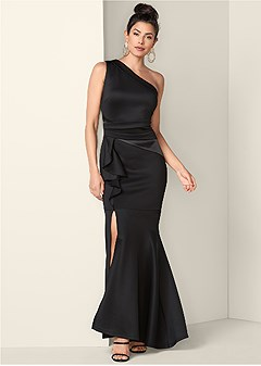 3a12688666 one shoulder long dress