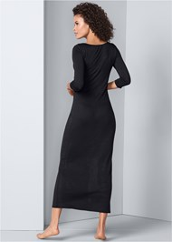 Back View Graphic Sleep Maxi Dress