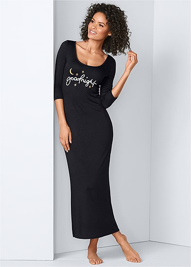 Graphic Sleep Maxi Dress